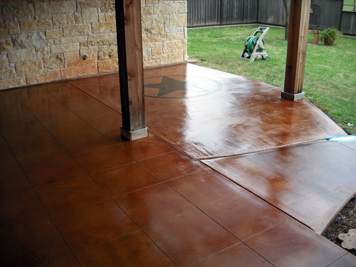 Acid stained concrete concrete staining denver for How do you clean concrete
