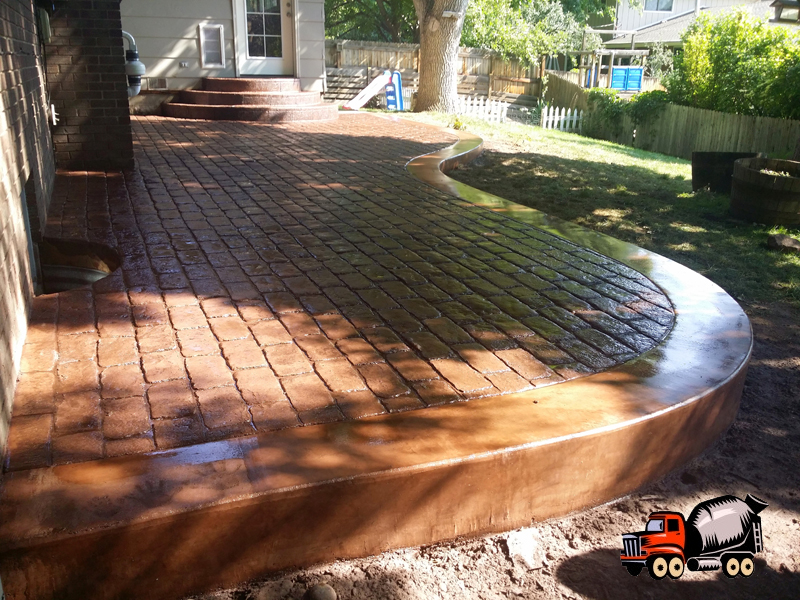 Stamped Concrete Patio in Thornton, CO
