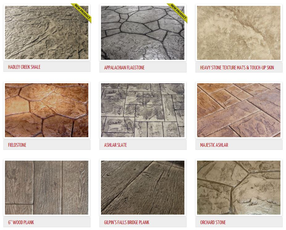 Stamped Concrete Patterns Stamp Examples