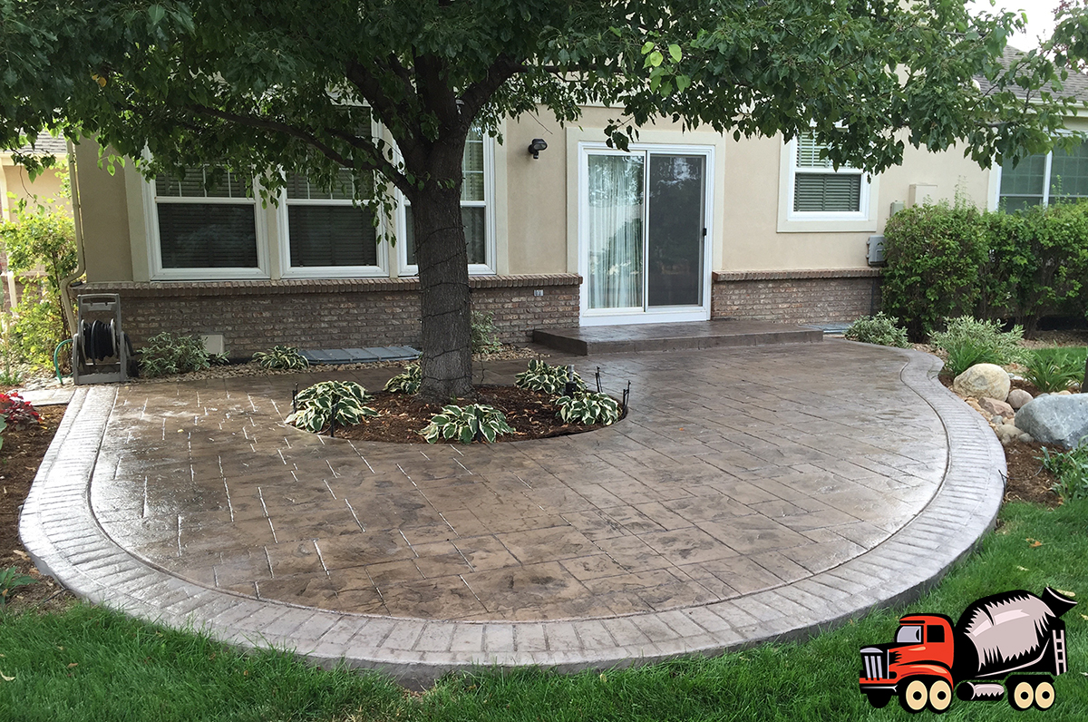 Denver Stamped Concrete Patio