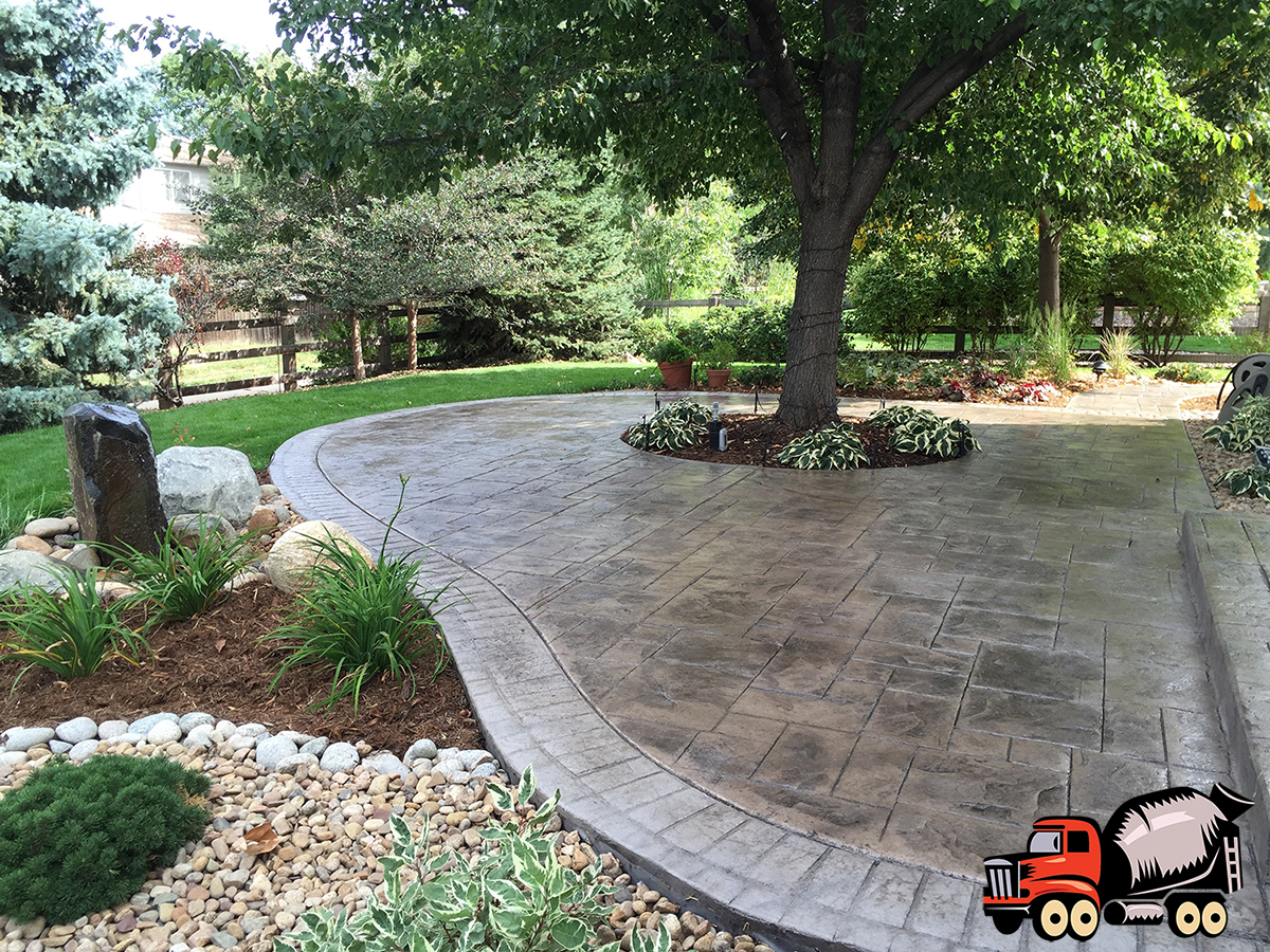 Stamped Concrete Patio with Stamped Boarder